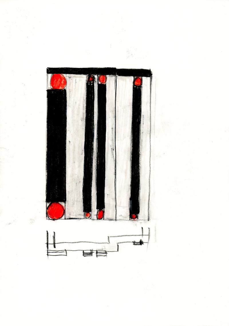 2037 , 2000-2013, pastel on paper, 21 x 29,7 cm