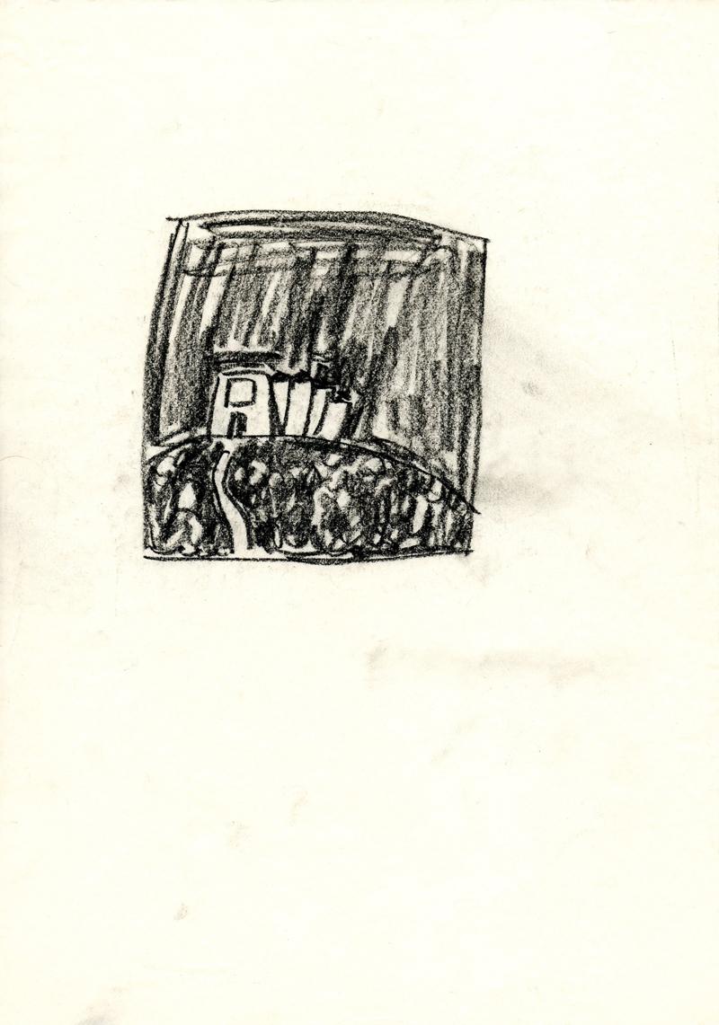 1053 , 1980-1999, pastel on paper, 21 x 29,7 cm