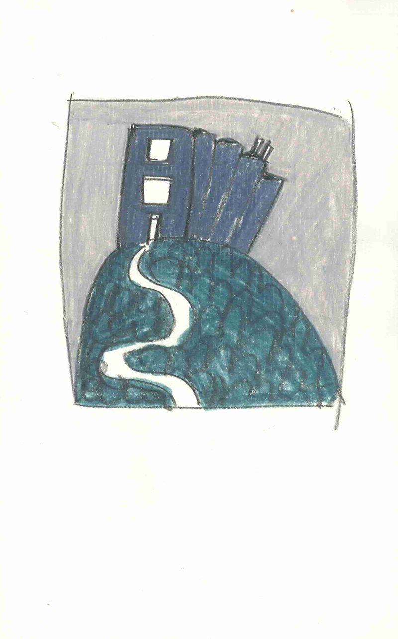 0001 , 1980-1999, pastel on paper, 14 x 22 cm