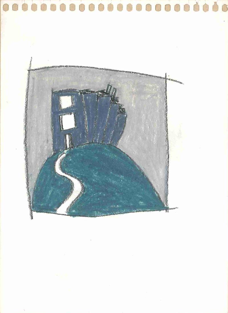 0002 , 1980-1999, pastel on paper, 12 x 16,5 cm