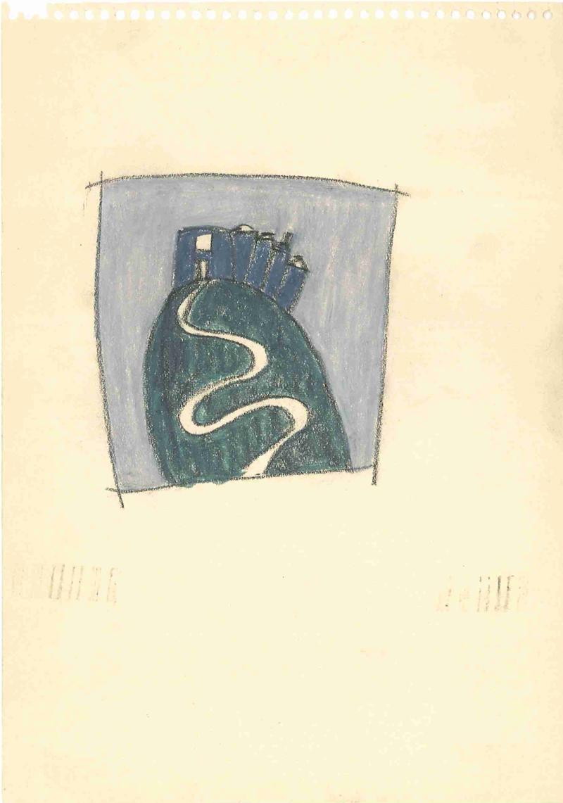 0004 , 1980-1999, pastel on paper, 15 x 21 cm