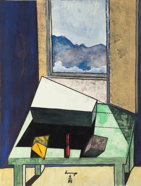 1234 House - 2 , 1985, gouache, 24 x 18 cm