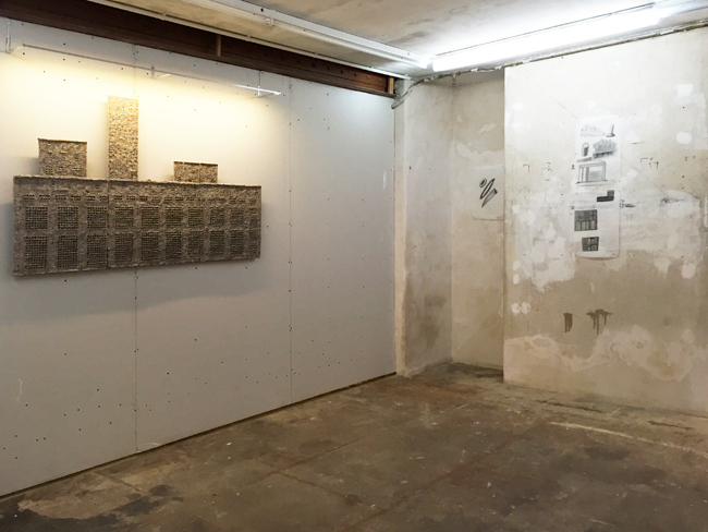 Basement exhibition view