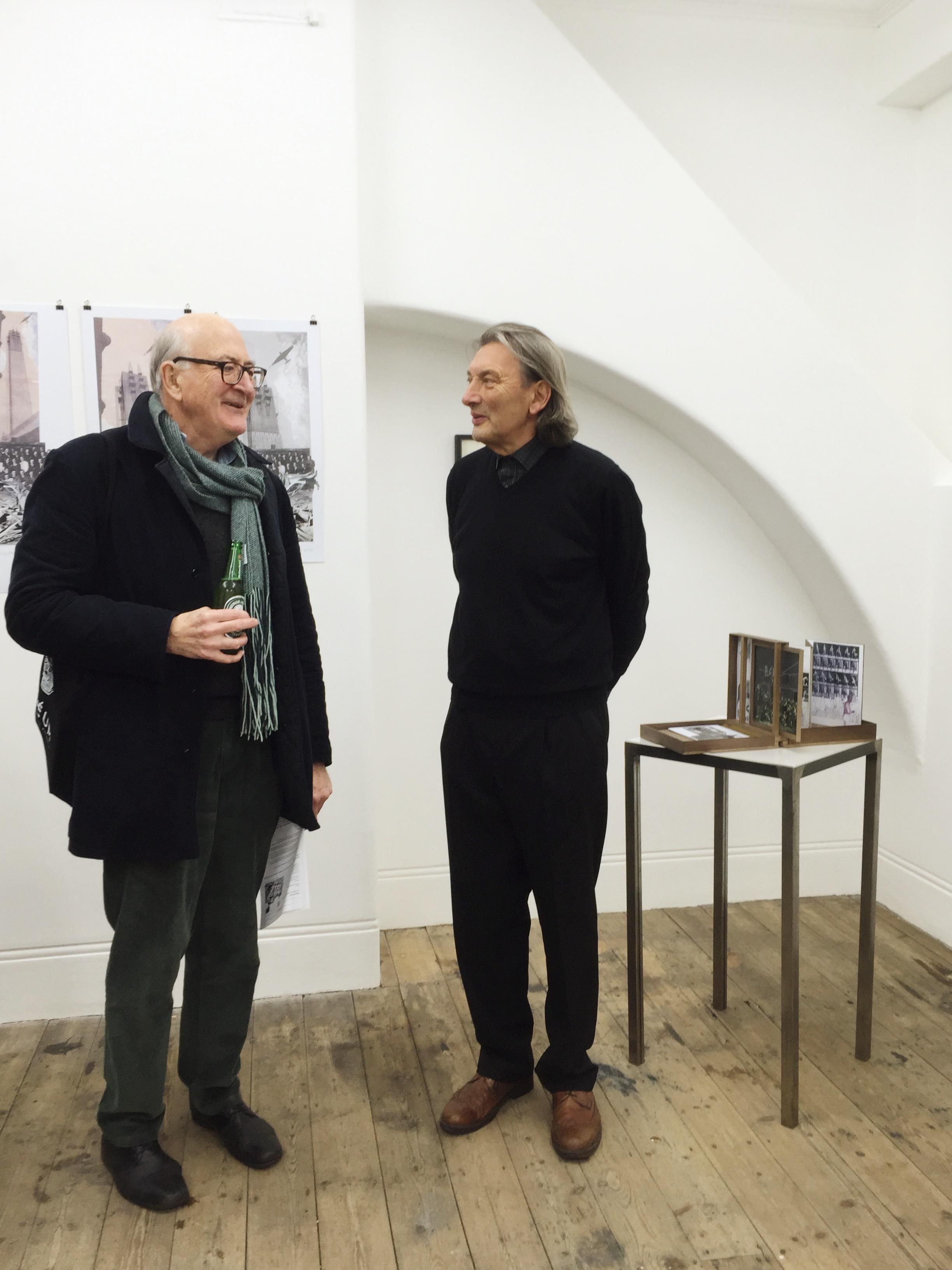 Journalist Colin Martin and Fred Scott