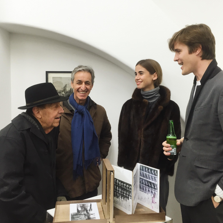 Florian Beigel, Philip Christou, Daniel Puga and friend