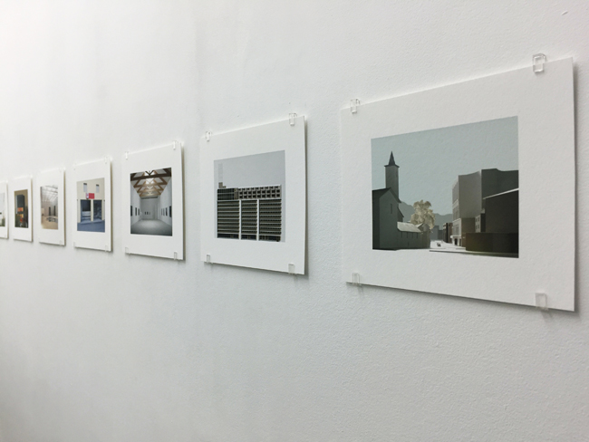 Exhibition view: Model photographs, 2017, 16.8 x 21 cm, each is an edition of 7