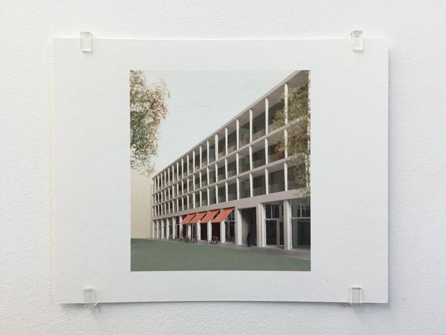 Caruso St John,  Falconhoven Housing Antwerp (2014-2017) , photograph, 2017, 16.8 x 21 cm, edition of 7.