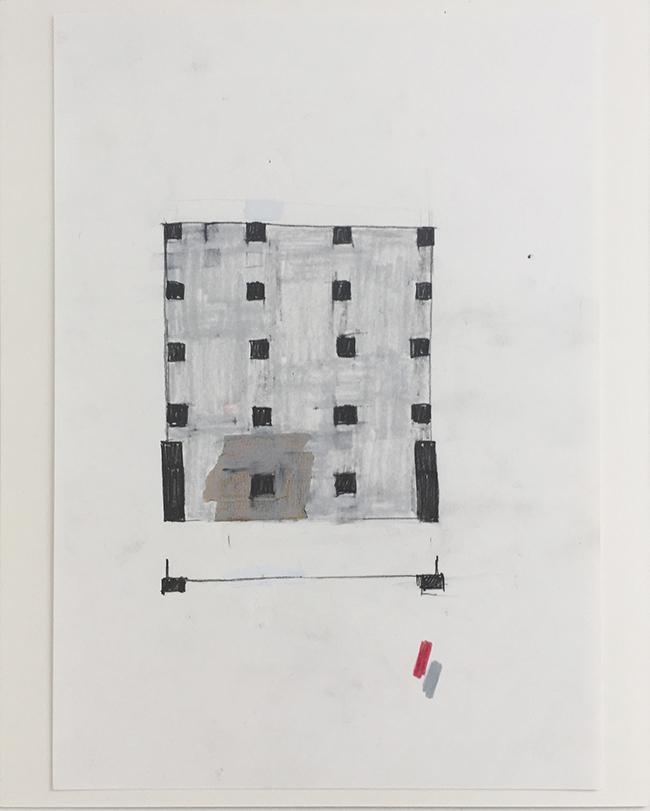 Language drawing 2292 , 2000-2010, pastel on paper, 29.7 x 21 cm