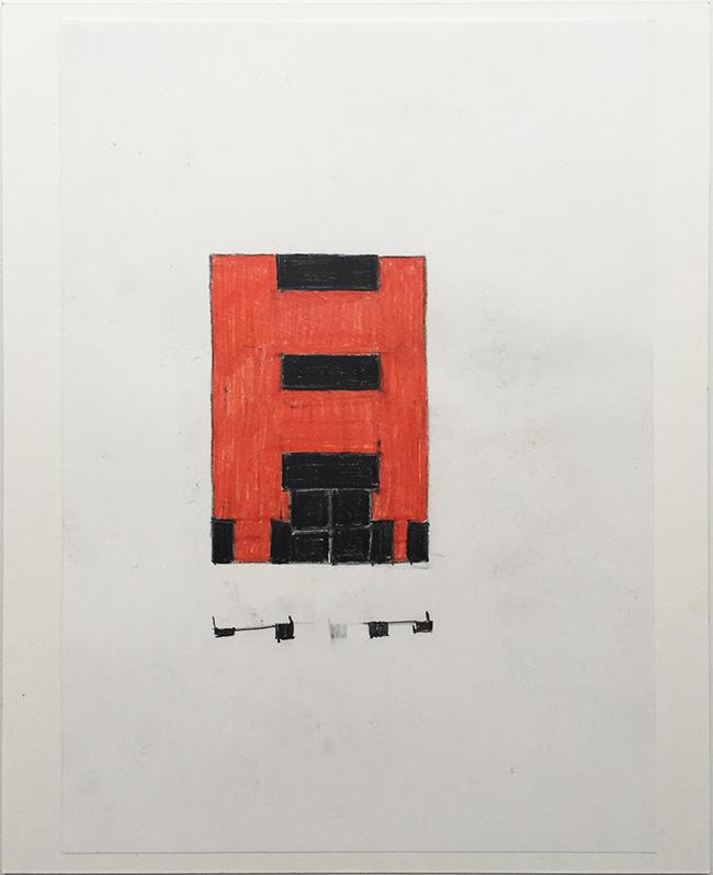 Language drawing 2285 , 2000-2010, pastel on paper, 29.7 x 21 cm