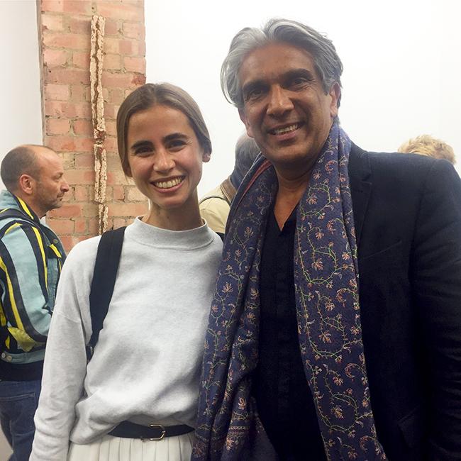 Daniela Puga (Barbican curator) and Bijoy Jain (Studio Mumbai)
