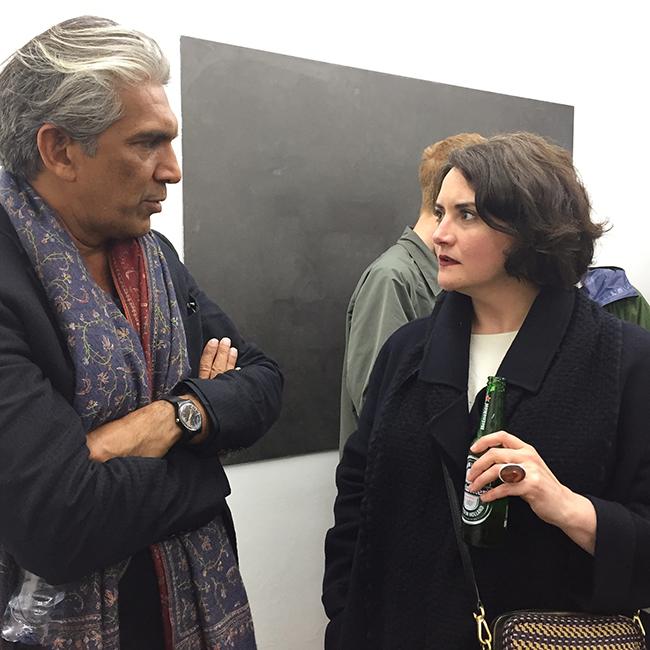 Bijoy Jain (Studio Mumbai) and Catherine Ince (V&A Museum curator)