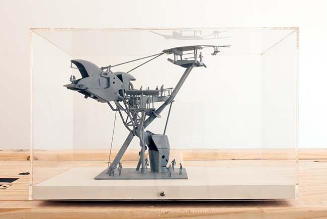 Zip Tower Cockatoo Island , 2012, plastic and timber, 23 x 26 x 36 cm, scale 1:100