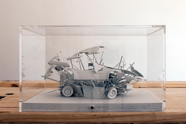 Carapace , 2003, plastic, rubber and metal, 15 x 20 x 20 cm, scale 1:25