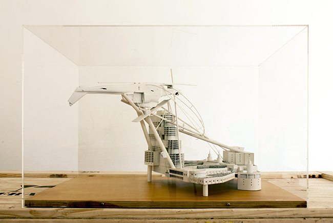 Casino Parasite , 1990, timber and plastic, 45 x 45 x 70 cm, scale 1:200