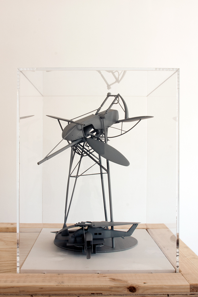Paddle Tower,  2012, plastic and timber, 50 x 50 x 50 cm, scale 1:100