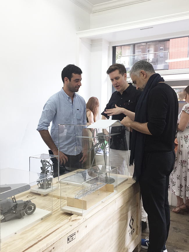David Burns, Adrian Lahoud and friend