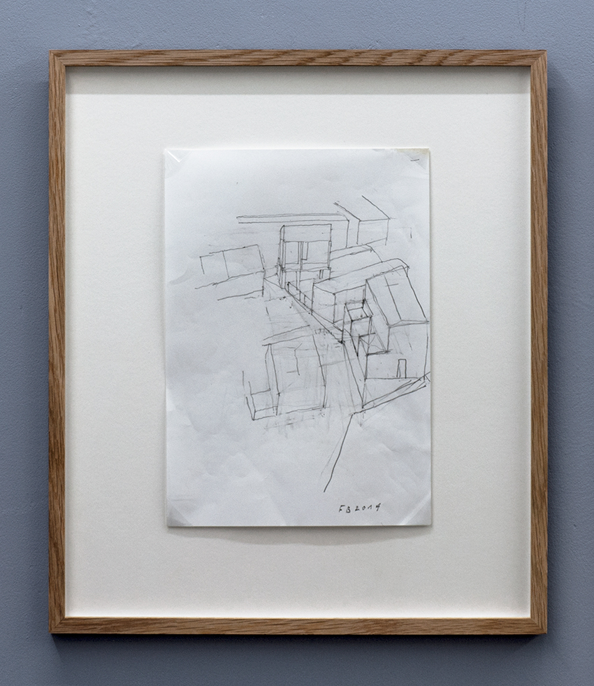 Florian Beigel,  104 Village 13 , 2014, pencil on white paper, 297 x 210 mm
