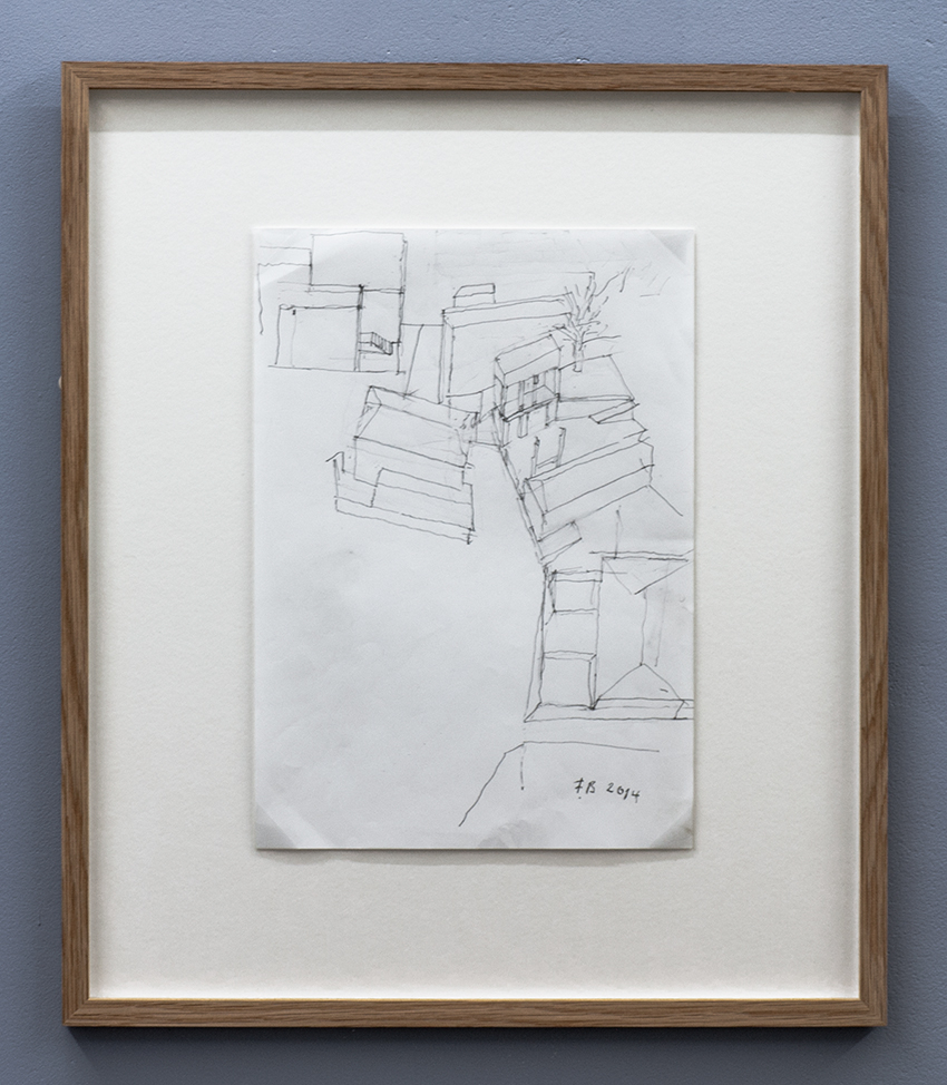 Florian Beigel,  104 Village 12 , 2014, pencil on white paper, 297 x 210 mm