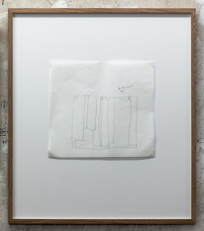 Florian Beigel,  Still life 20_170830 , 2017, pencil on greaseproof paper, 272 x 307 mm