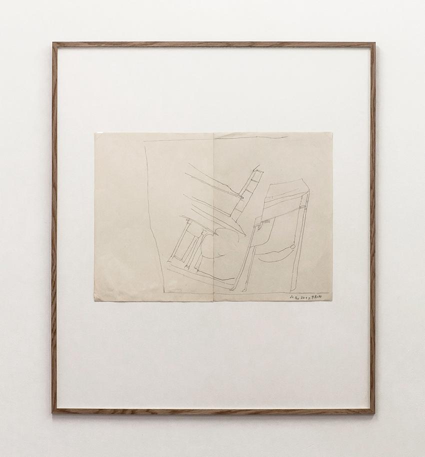 Florian Beigel & Philip Christou,  Still life 21_171023 , 2017, pencil on cartridge paper, 420 x 593 mm