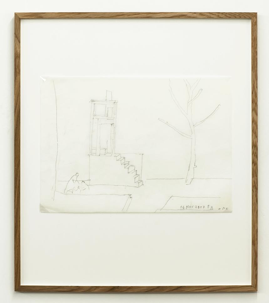 Florian Beigel & Philip Christou,  Still life 26_171116 , 2017, pencil on cartridge paper, 296 x 420 mm