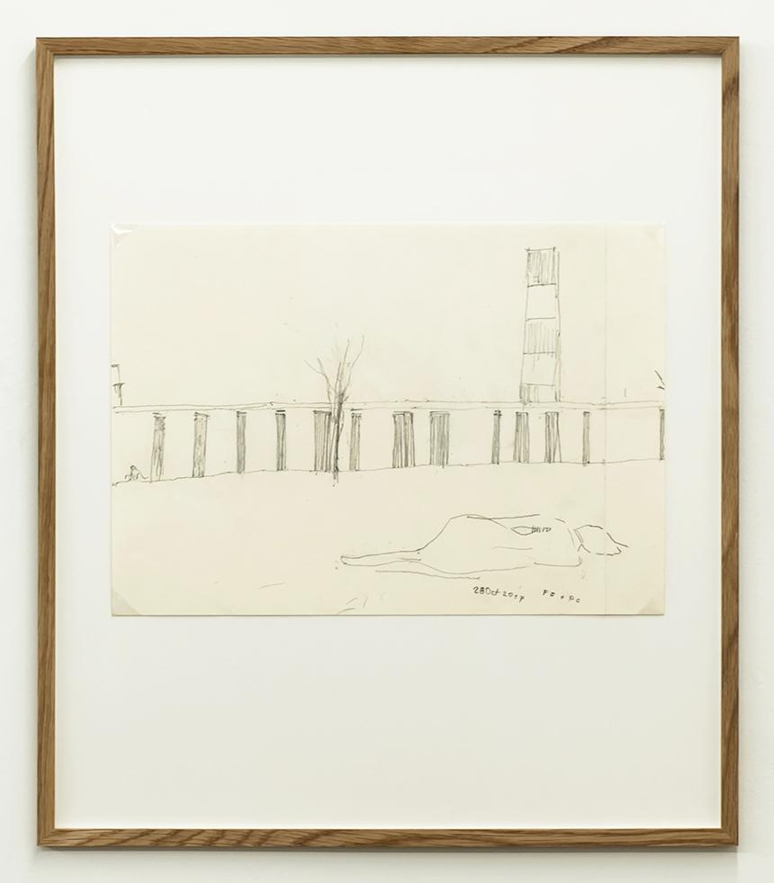 Florian Beigel & Philip Christou,  Still life 23_171028 , 2017, pencil on cartridge paper, 296 x 420 mm