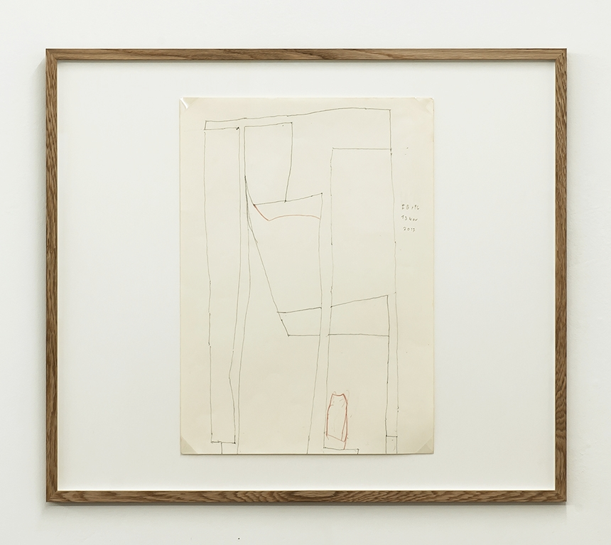 Florian Beigel +Philip Christou,  Still life 25,  2017, pencil on greaseproof paper, 420 x 296 mm