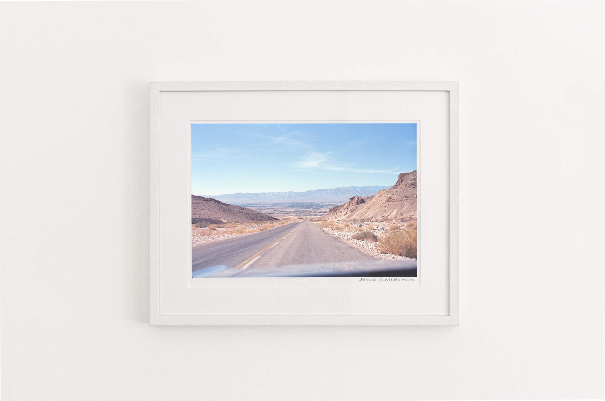 Mojave Desert, California , around 1966. Giclée pigment on Hahnemuhle archival paper, 45.5 x 30.3 cm (framed), Edition of 10