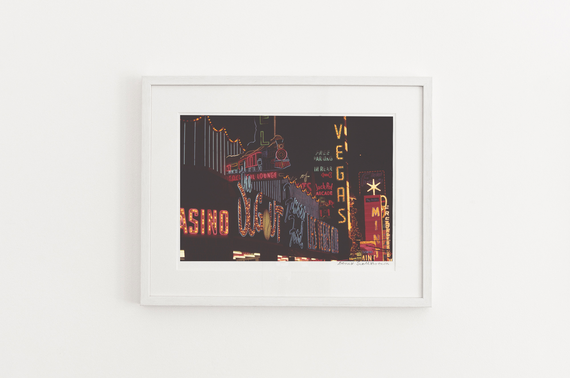 Signs, Las Vegas , around 1966. Giclée pigment on Hahnemuhle archivalpaper, 45.5 x 30.3 cm (framed), Edition of 10