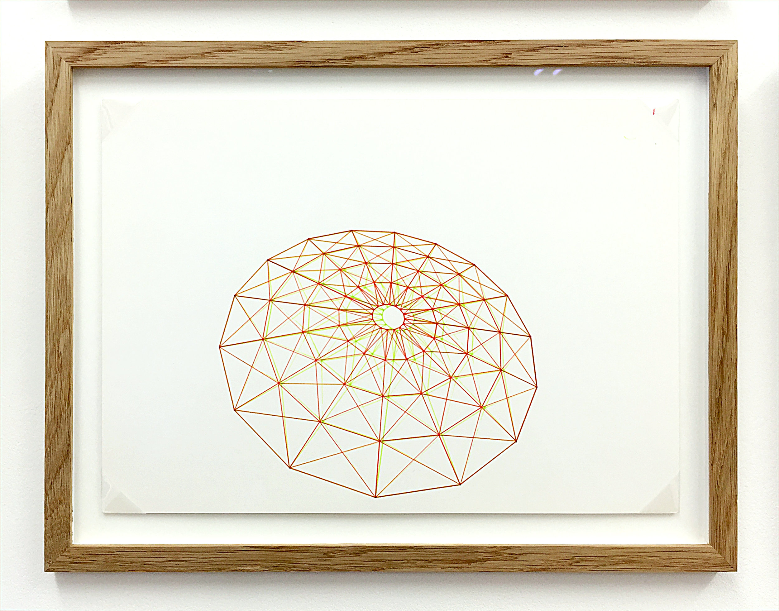 Anaglyph 3D drawing (Untitled No.1) , 1988, plotter drawing-ink on paper, 26.5 x 35 cm