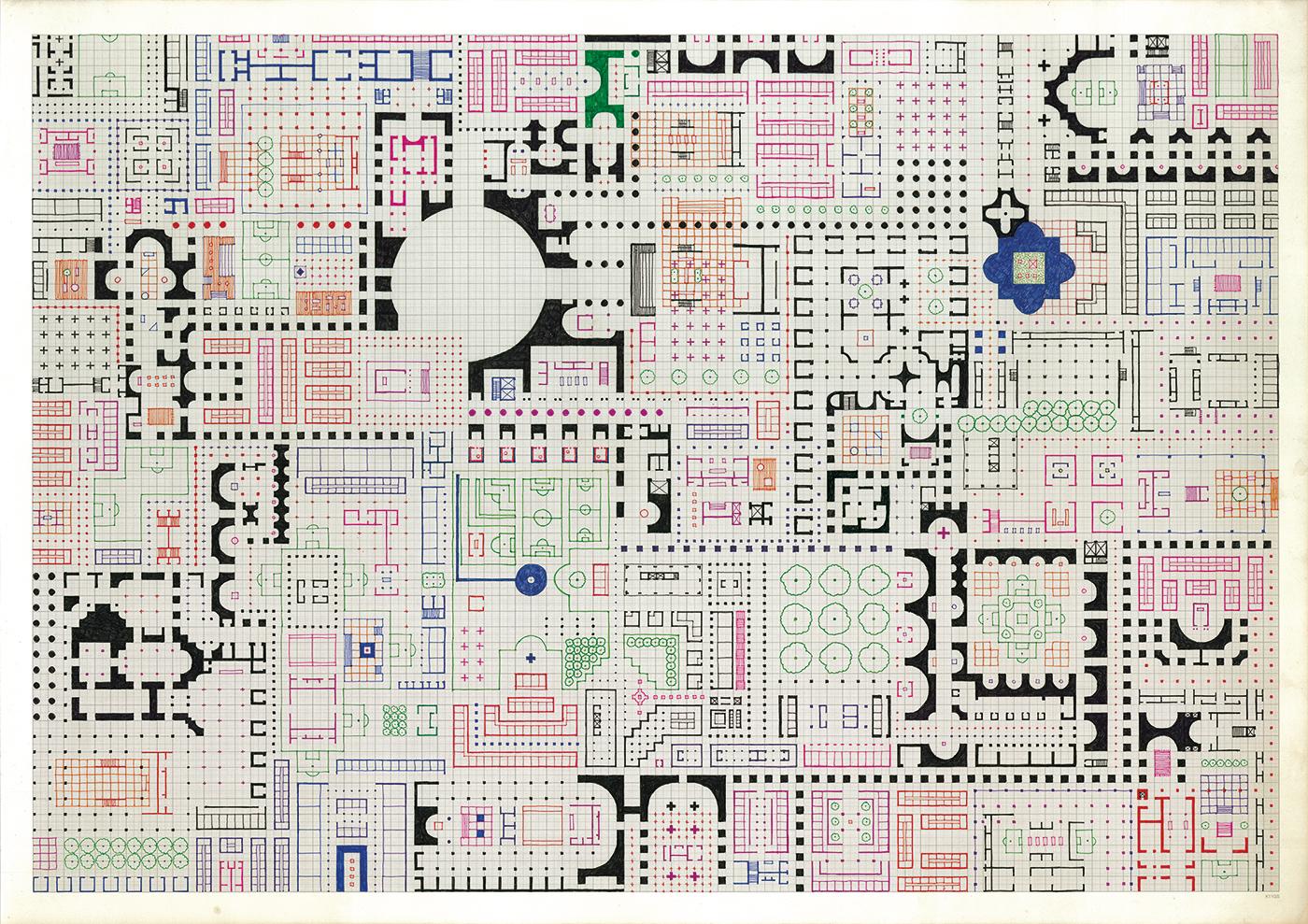 Empire of Ice Cream No.11 , 2011-2018 ink on graph paper 59.4 x 84.1 cm