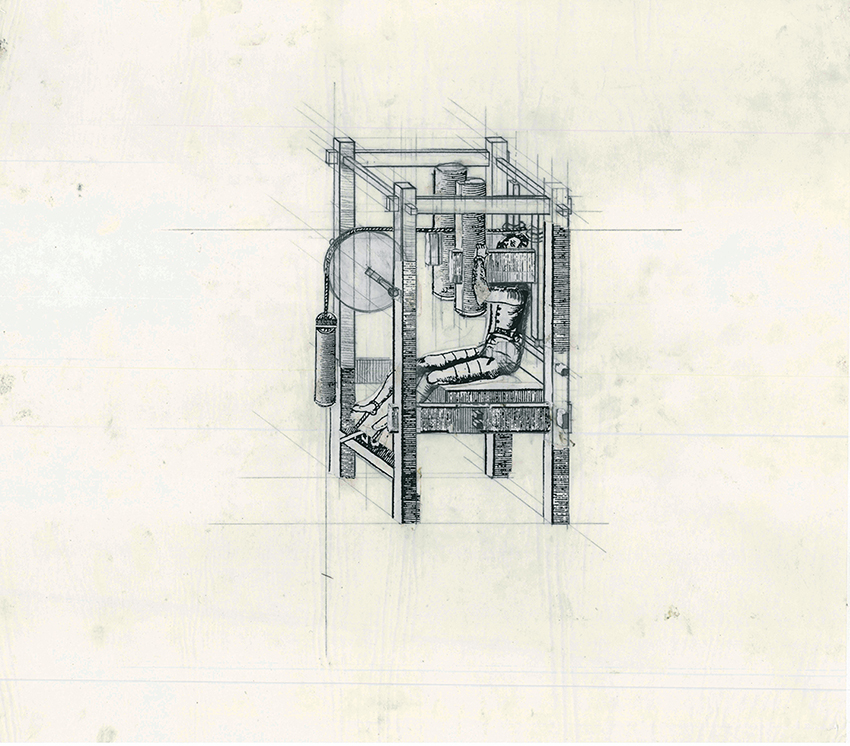 Beauty of Our Pain: The Duke's Cabinet , 1995 collage, tipex, paper, graphite on tracing paper 35.5 x 40.2 cm