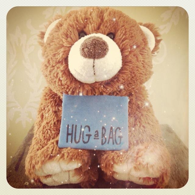 Huggies, our mascot of Hug a Bag.