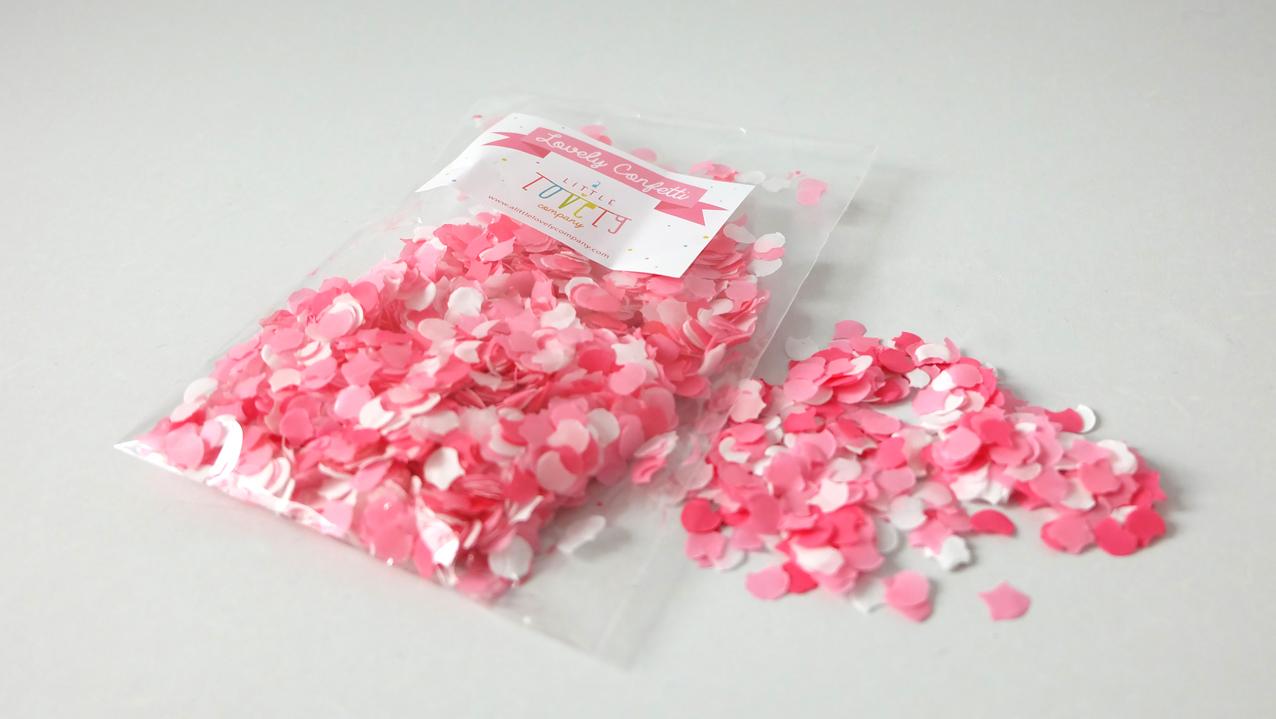 Little Lovely Company Confetti sweet girl roze €2,50.