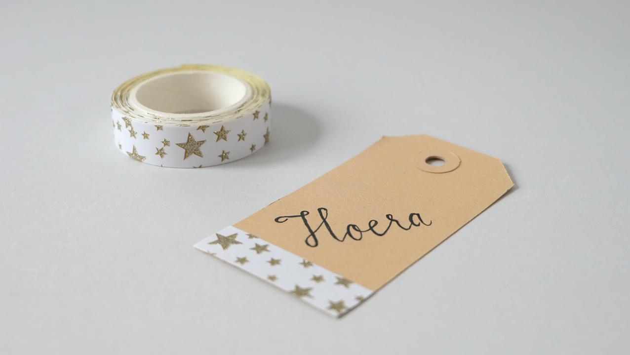 Meri Meri Glitter Tape ster wit €3,00 (zonder tags).