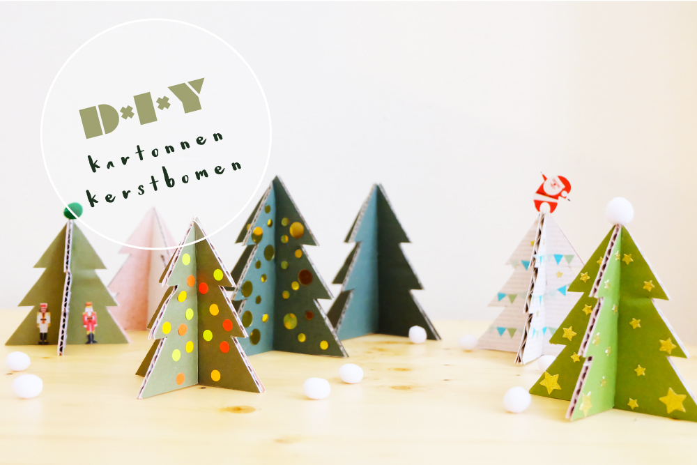 DIY_kartonnen kerstbomen