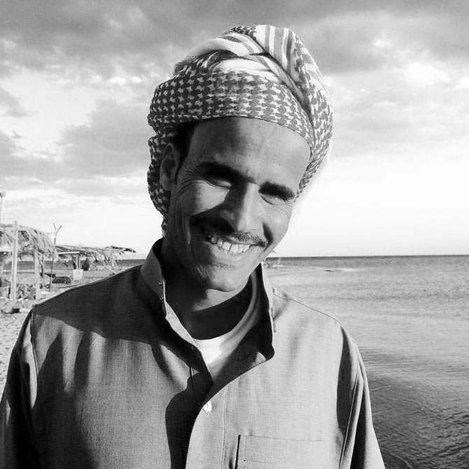 Ibrahim is from the Muzeina Tribe and he takes our guests for Bedouin Dinners and also local Dahab trips. He is also a great fisherman.
