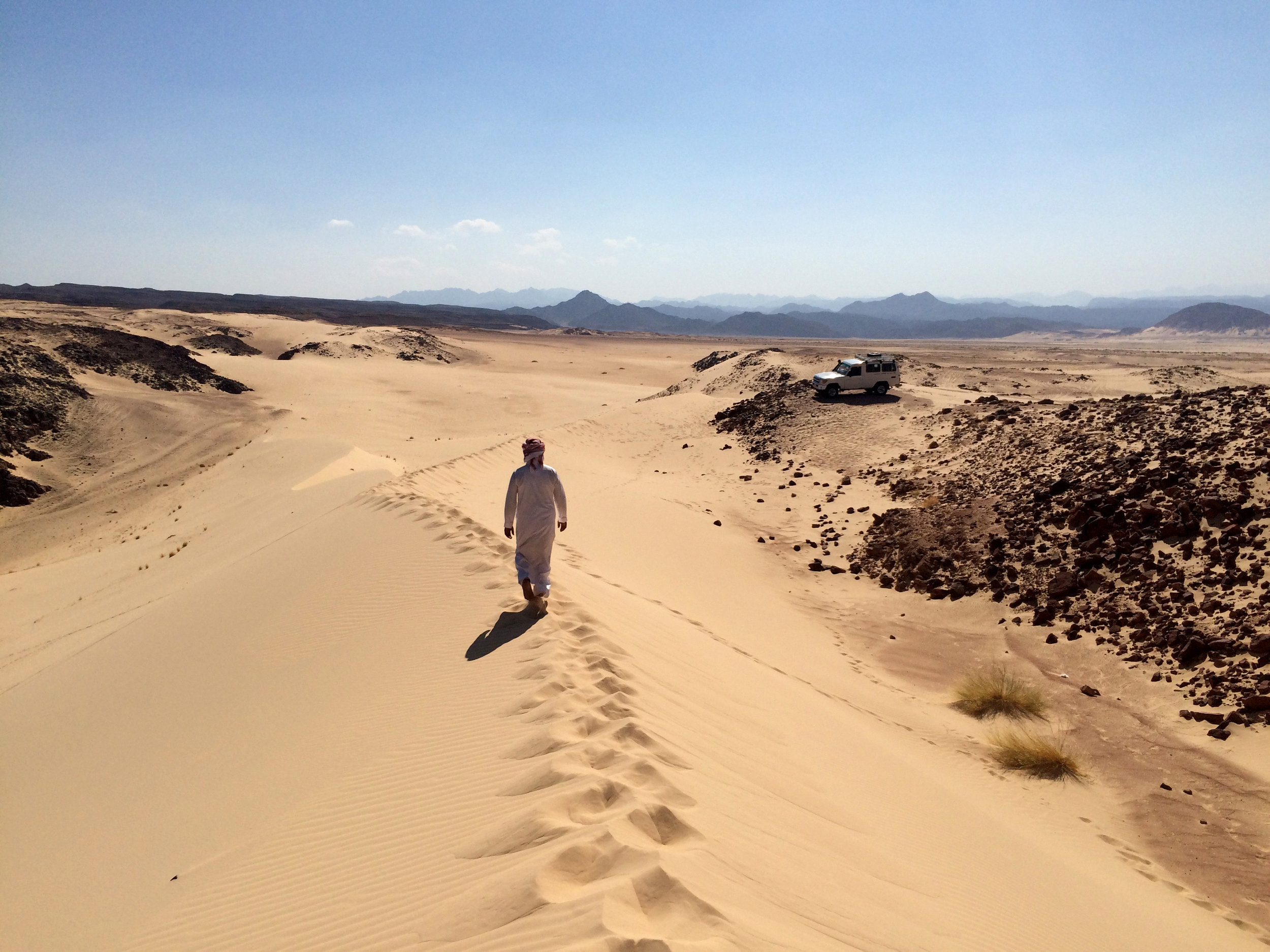 Walking the dune in South Sinai