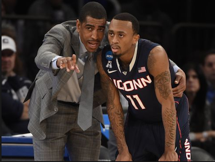 UConn Head Coach Kevin Ollie is as intense as they come, but he earns the respect of his players because he walked the walk as a 13-year NBA Vet.   Photo: Robert Deutsch USA Today Sports