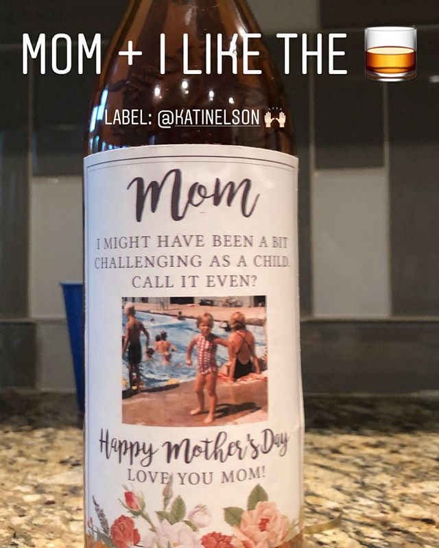 when you know growing up you were probably the source of mom needing to sneak a sip 🤣 can't say I blame you #loveyoumom #energyalwayson #sorry #happymothersday