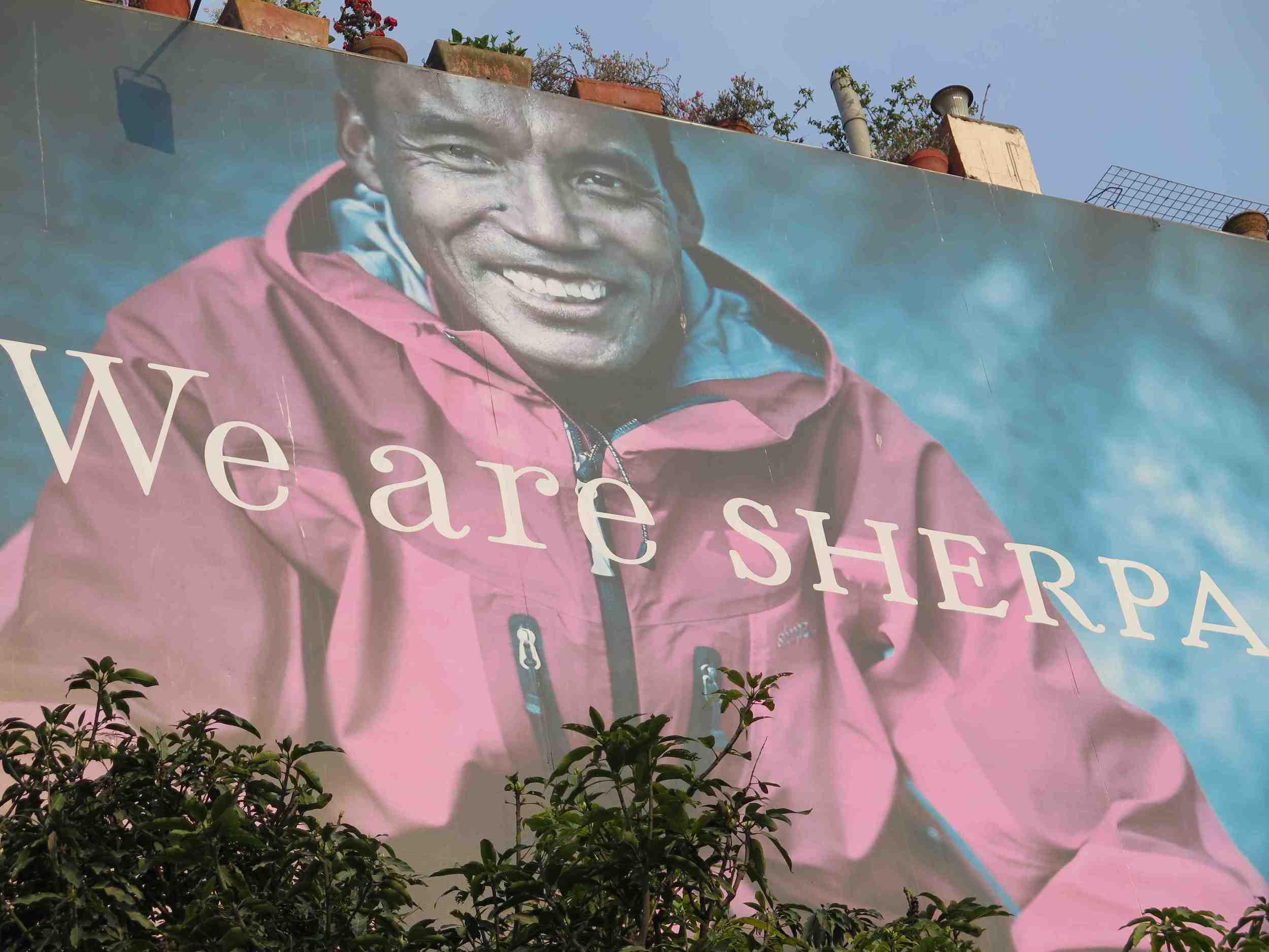 Katmandu'da bir binanin duvari / On the side of a building in Kathmandu