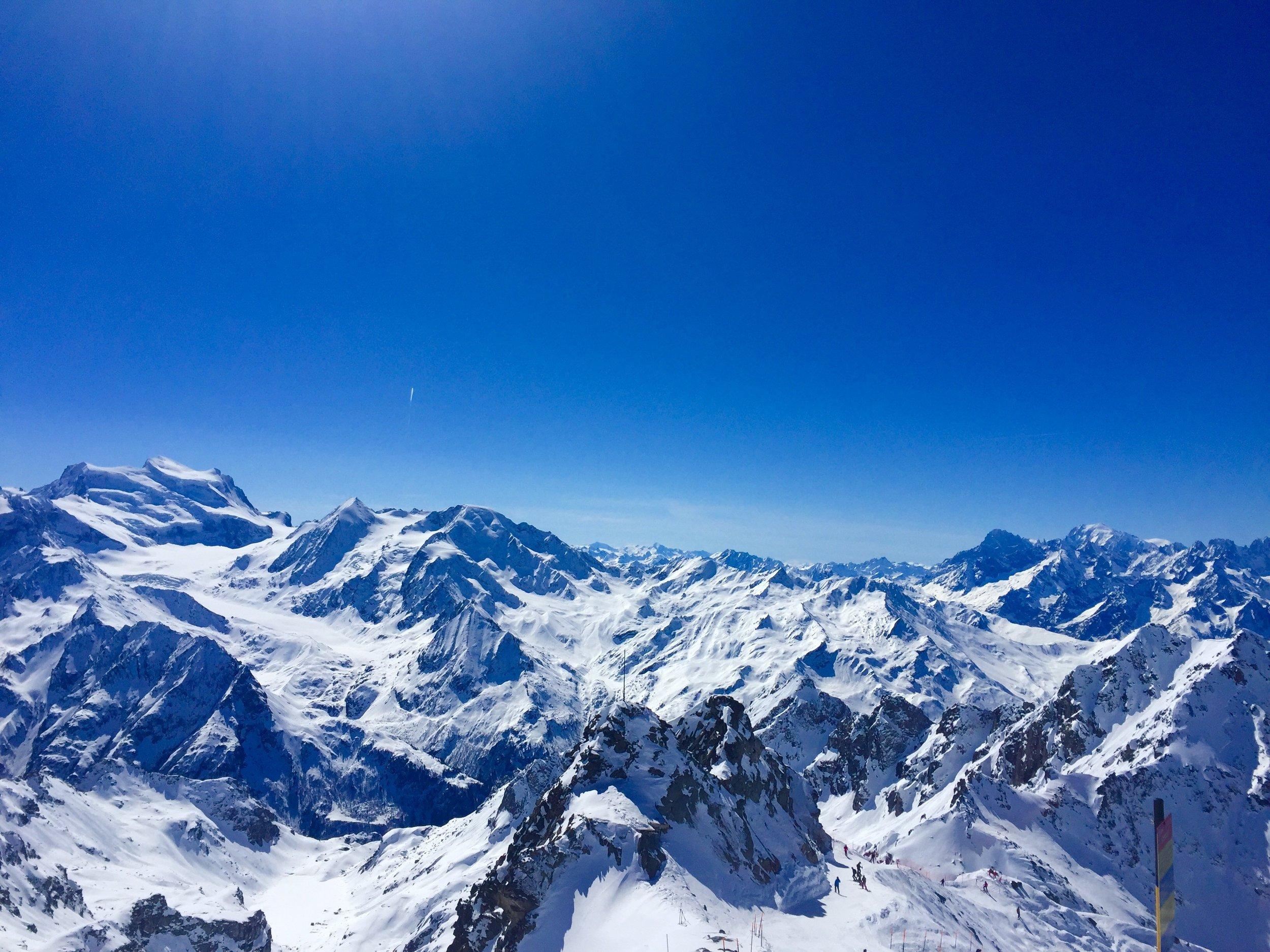 Verbier Kayak Merkezi - Isvicre'de en tepeden manzara / View from the top of Verbier Ski Resort - Switzerland