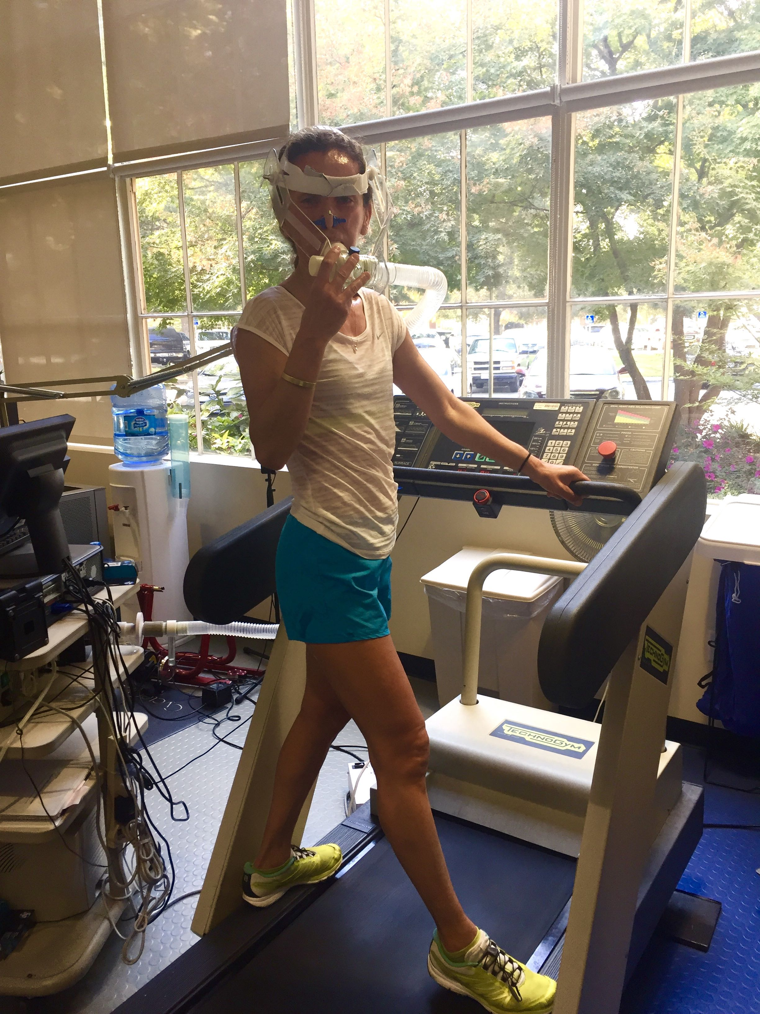 at the start of my metabolic efficiency test
