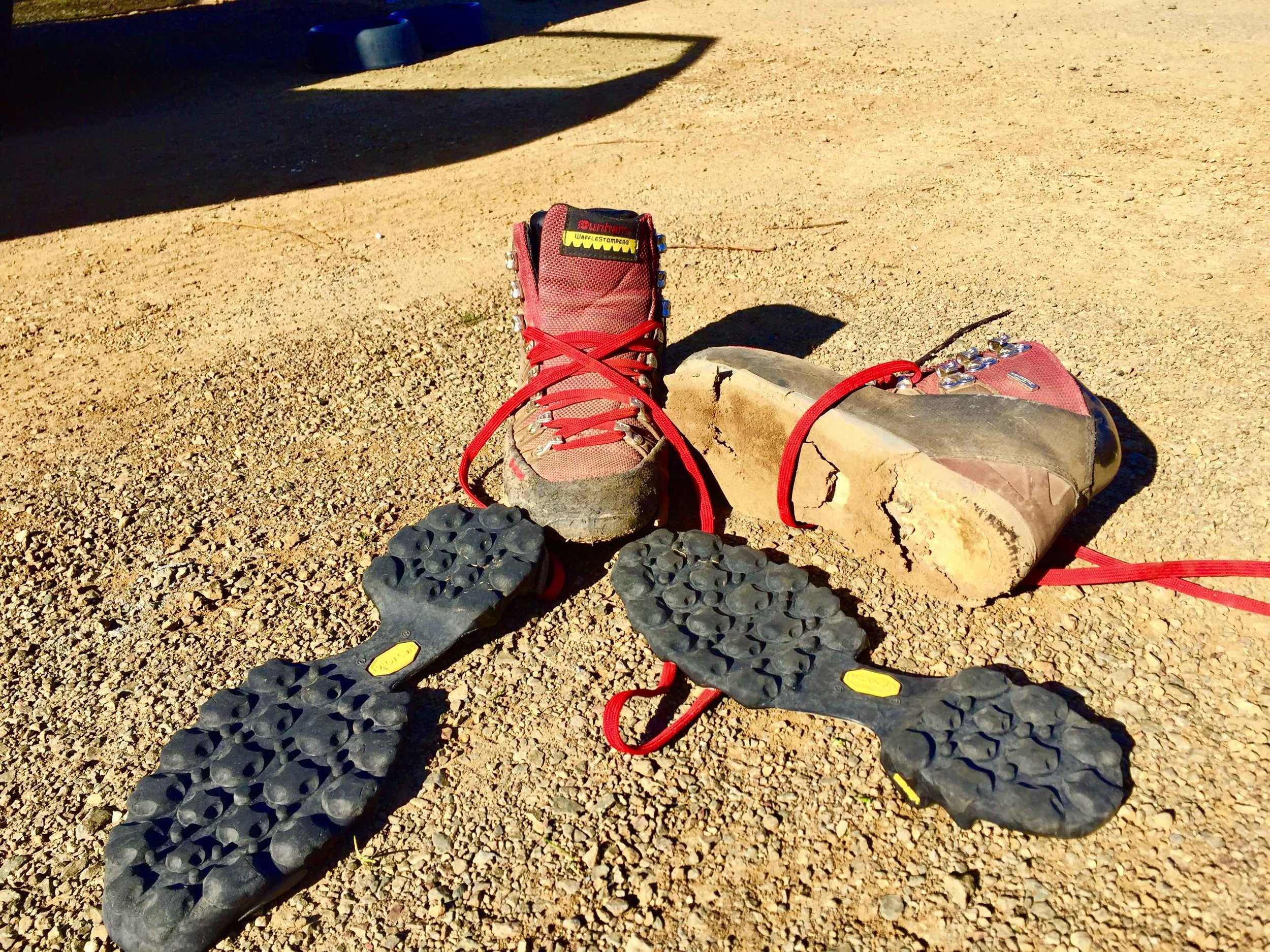 not sure if it was the age of my boots or my overtraining in them... :)