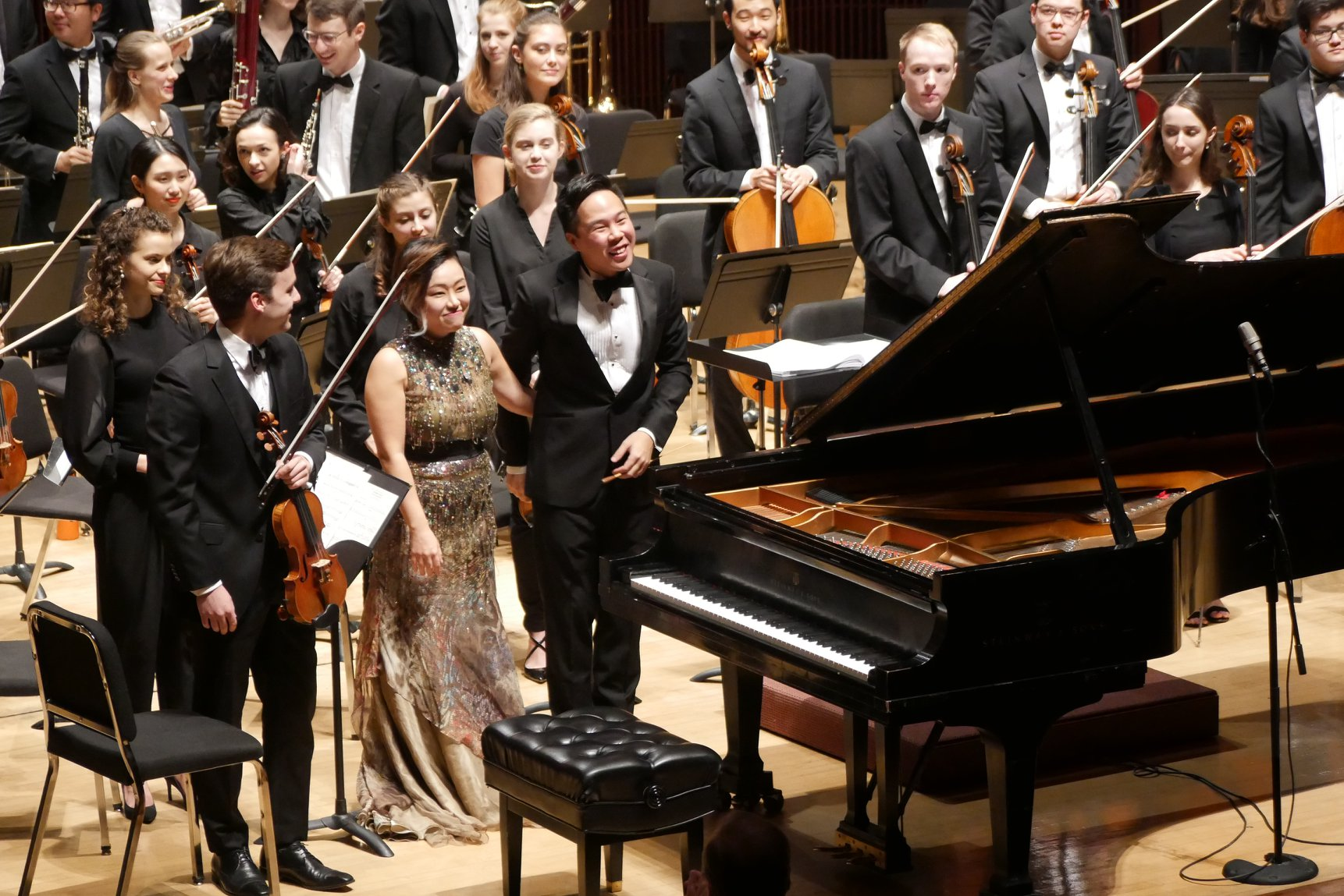 Saint-Saëns' Fifth Piano Concerto with soloist Saetbyeol Kim and the Shepherd School Symphony Orchestra (2018)