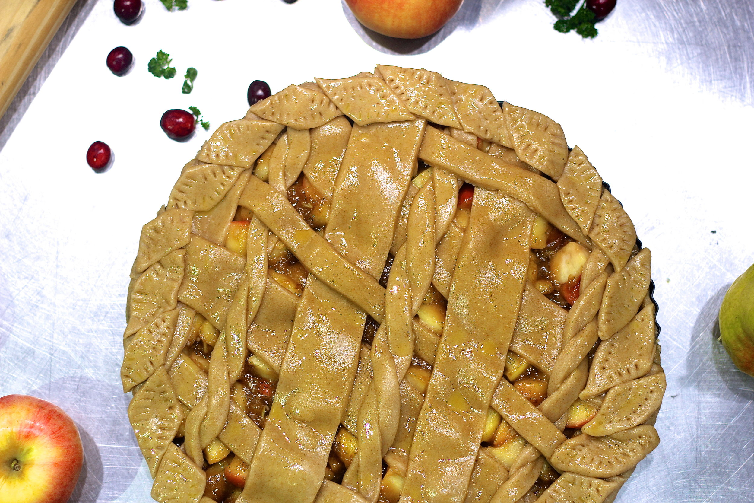 All pies are made from scratch and generously feed more than 10 persons (they are huge!).