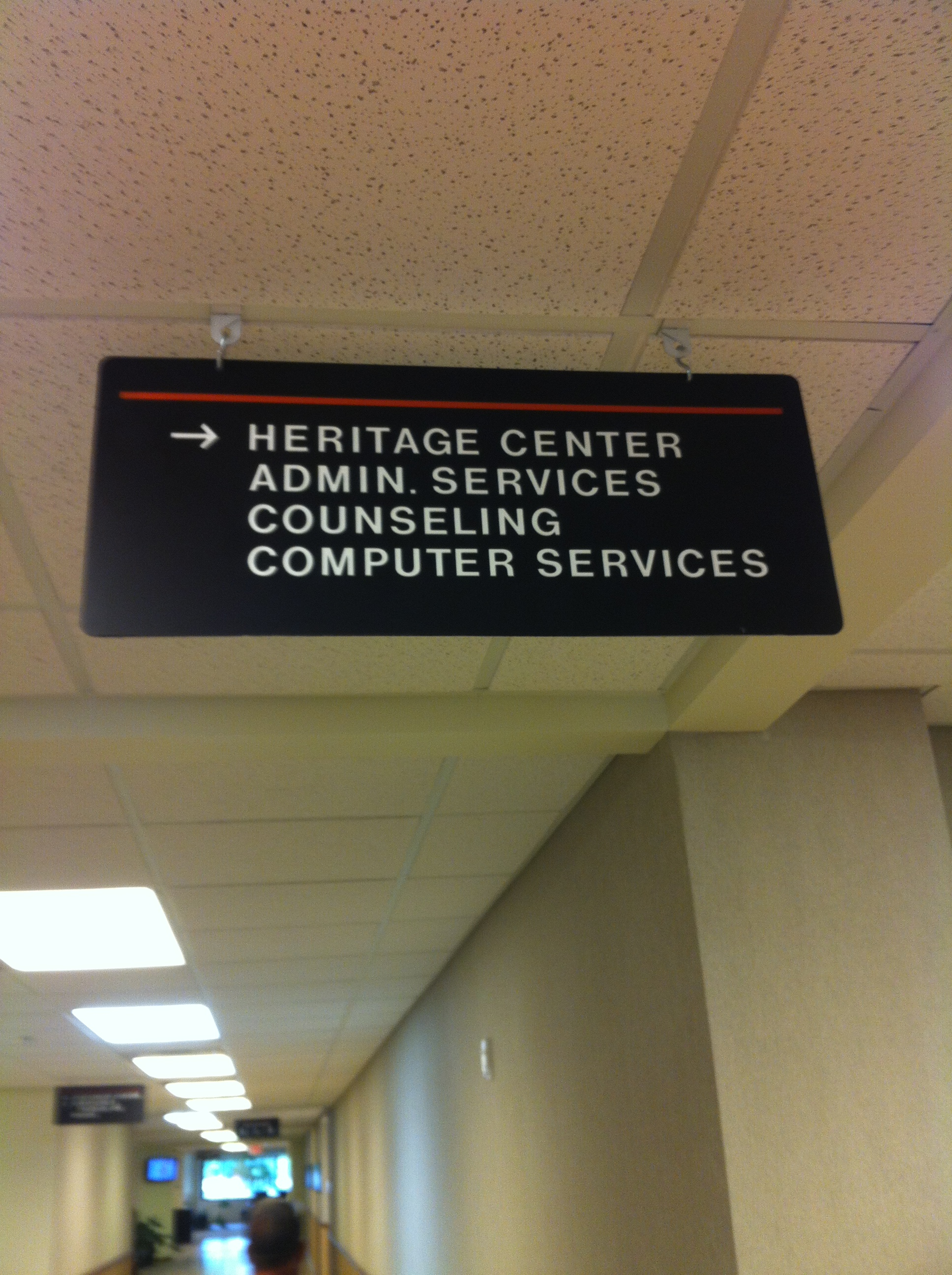 OSU Okmulgee Hanging sign.JPG