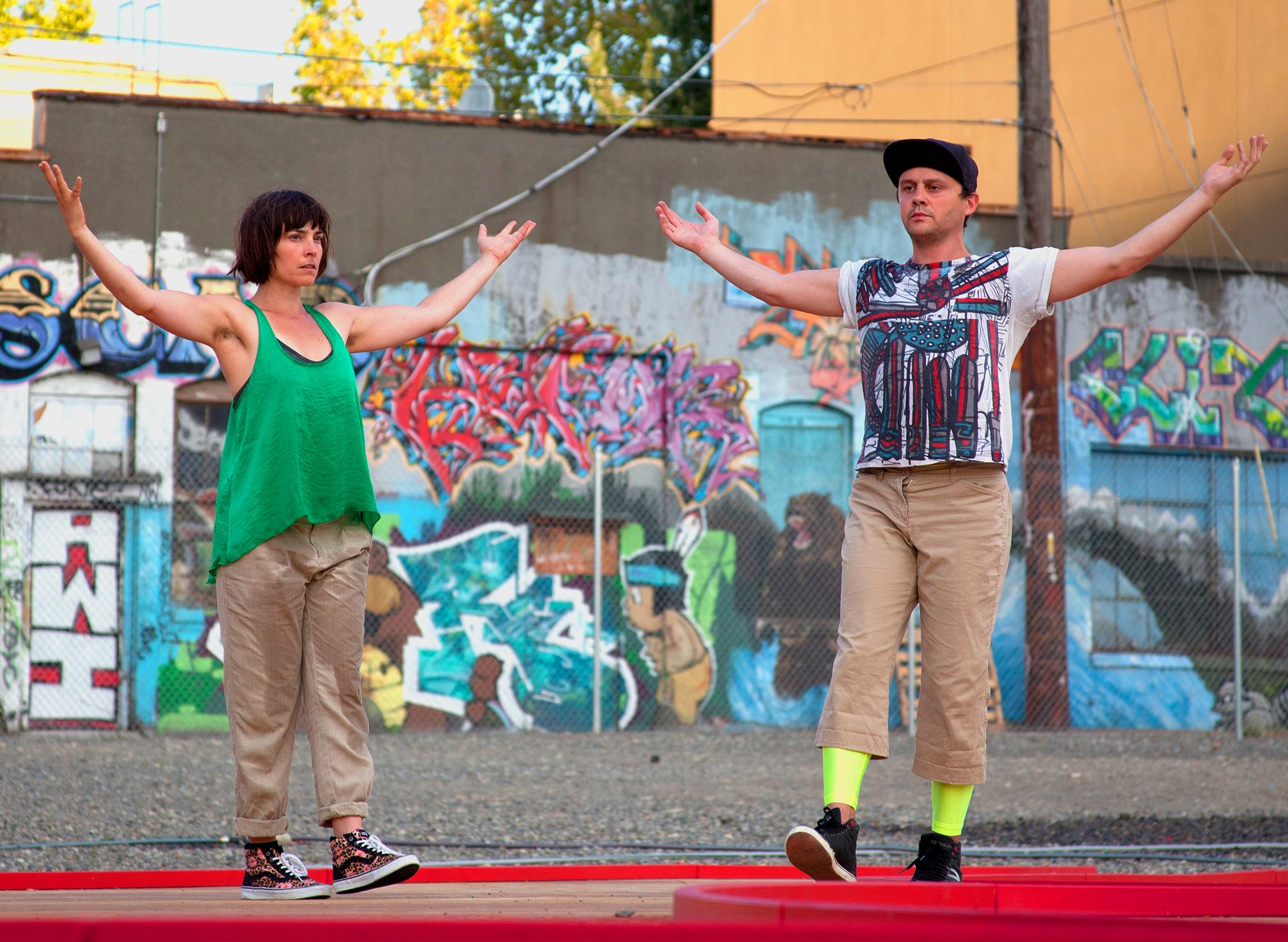 Tahni Holt for In Situ improvisational dance residencies
