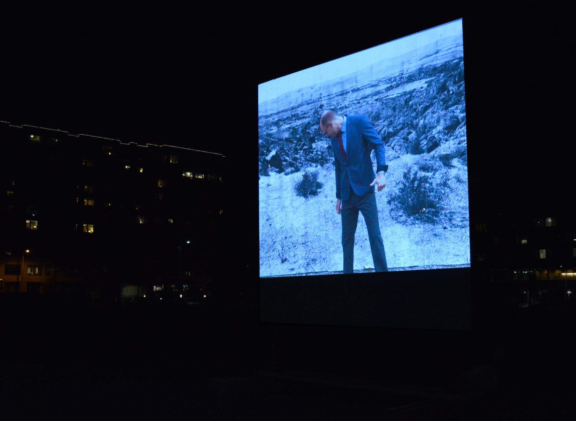 "Rodrigo Valenzuela, ""Flatlands,"" projection project with community members"