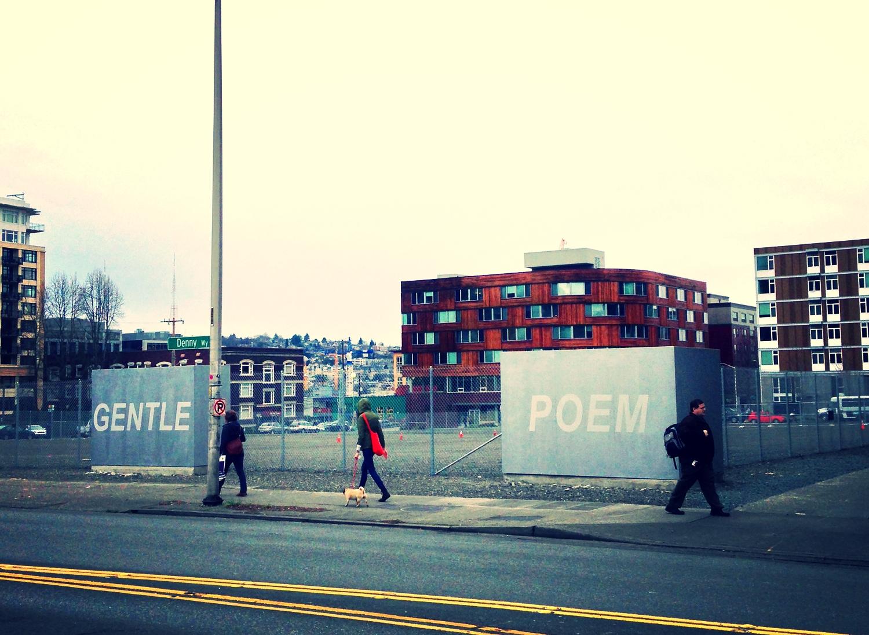 """Excerpt from Arnie Pihl's poem """"Here."""" Photo Annie Holden"""